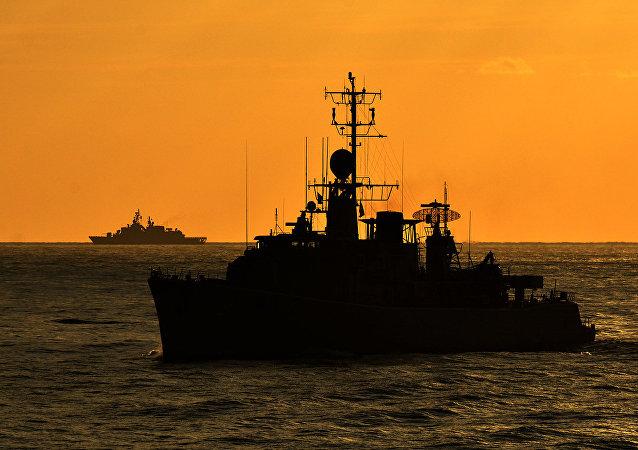 Buques de la OTAN en el Mediterráneo (archivo)