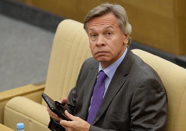Alexéi Pushkov, jefe del Comité de Asuntos Internacionales de la Duma de Rusia