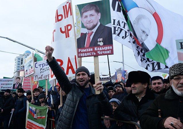 Mítin en apoyo a Ramzán Kadírov