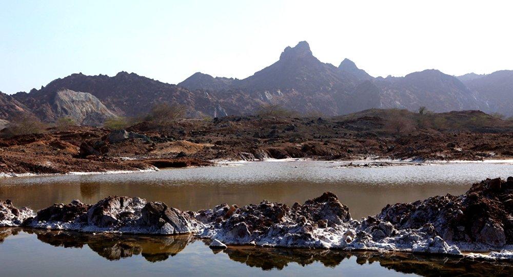 Isla de Ormoz en el golfo Pérsico