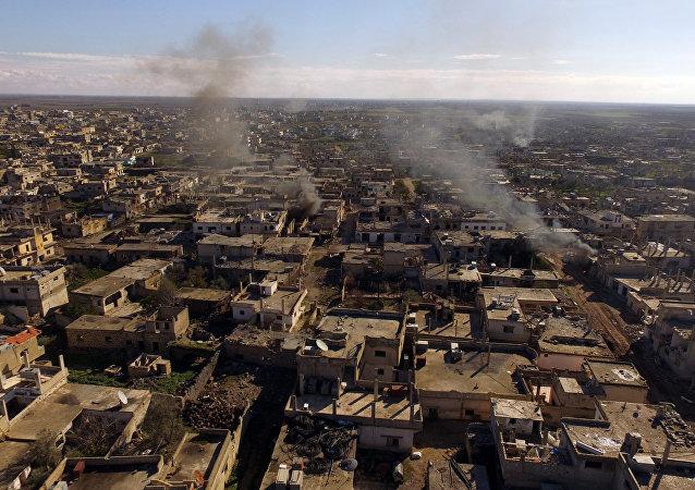 La ciudad de Al-Shaykh liberada en la provincia siria de  Daraa