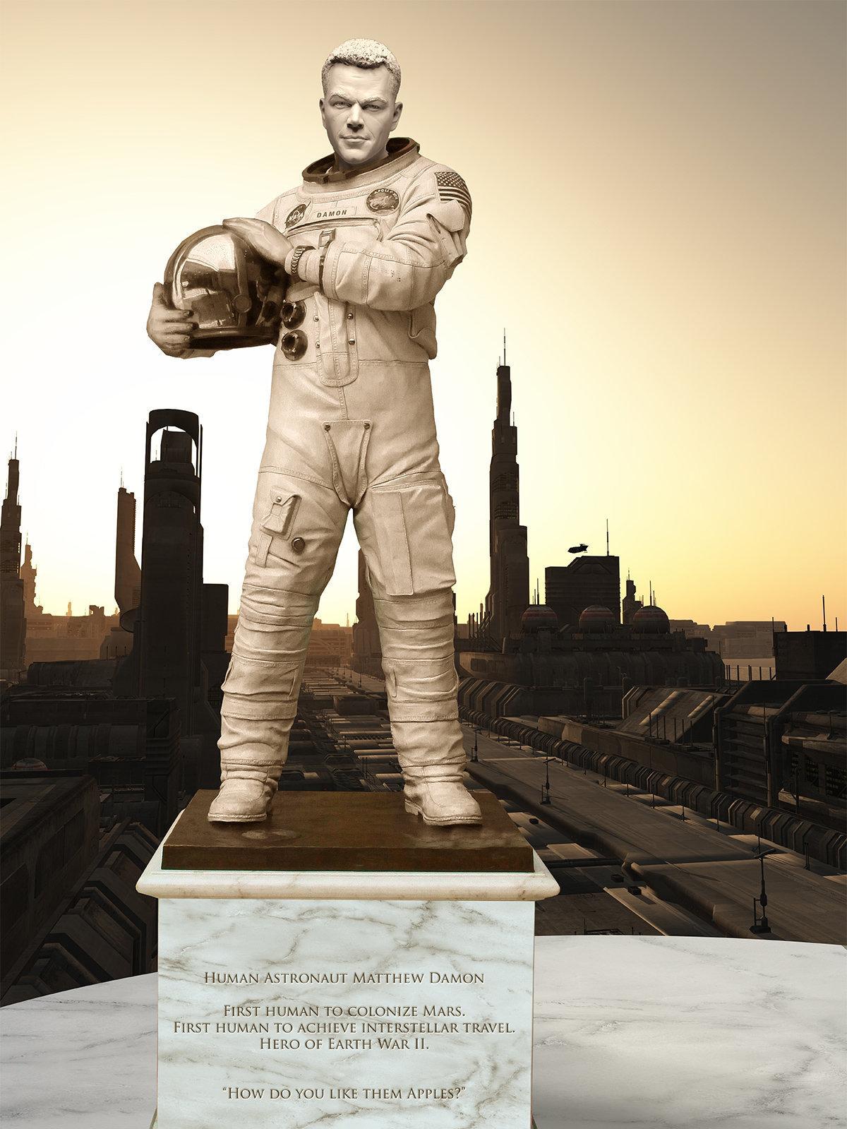 Hallan estatua de astronauta del pasado en la capital de Marte