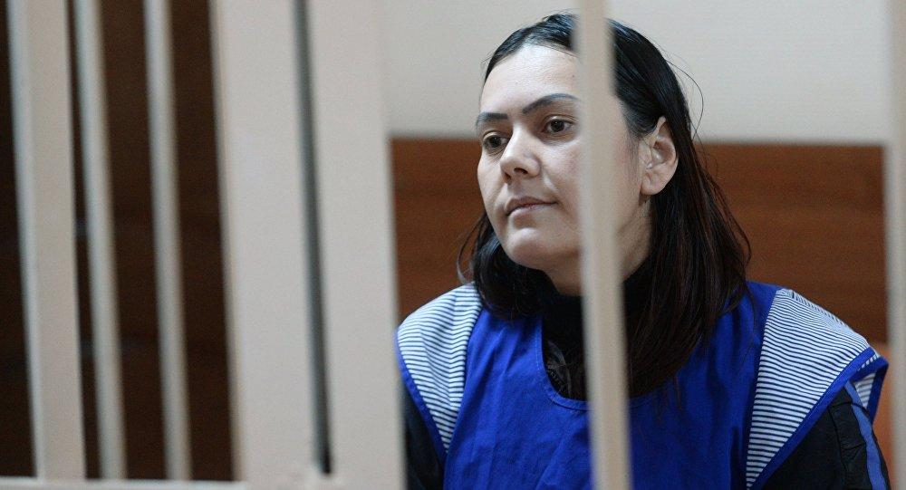 La niñera Gulchejra Bobokúlova durante el juicio