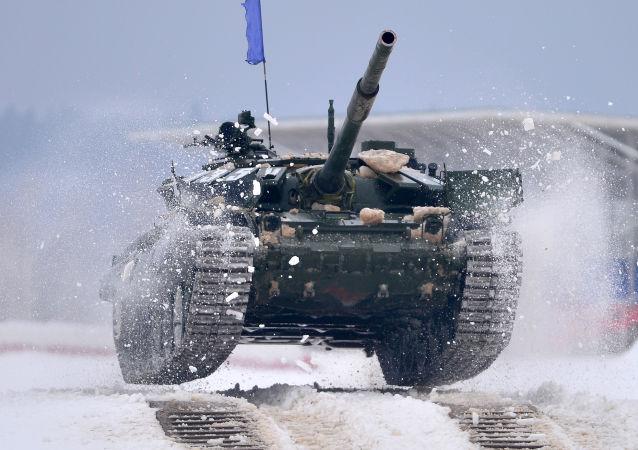 Etapa clasificatoria del Biatlón de tanques del Distrito Militar Occidental