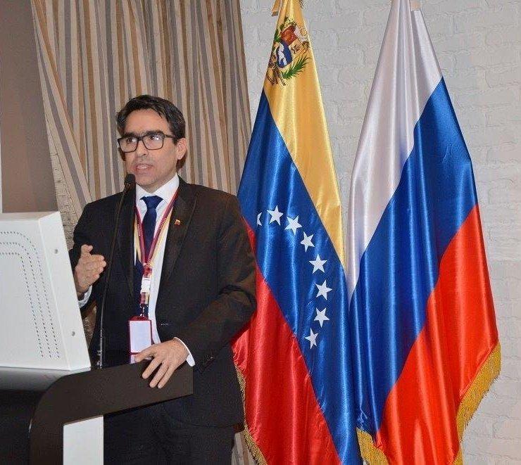 Ministro consejero de Venezuela ante Rusia, Álvaro Sánchez Cordero
