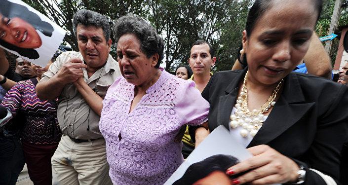 Los familiares de Berta Cáceres (archivo)