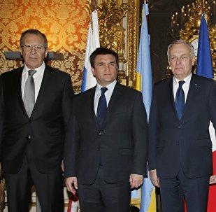 La reunión de jefes de Exteriores del 'cuarteto de Normandía'