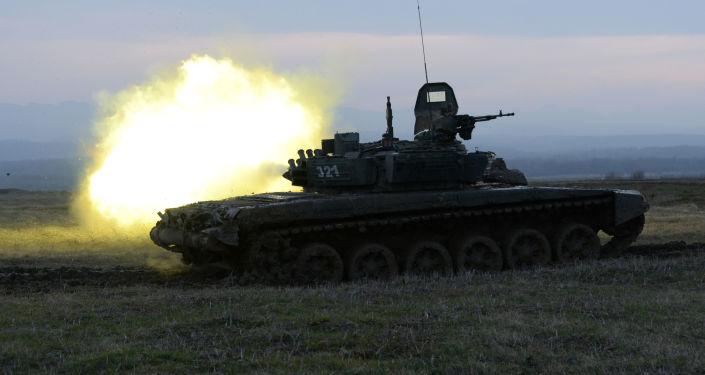 Biatlón de tanques en Chechenia