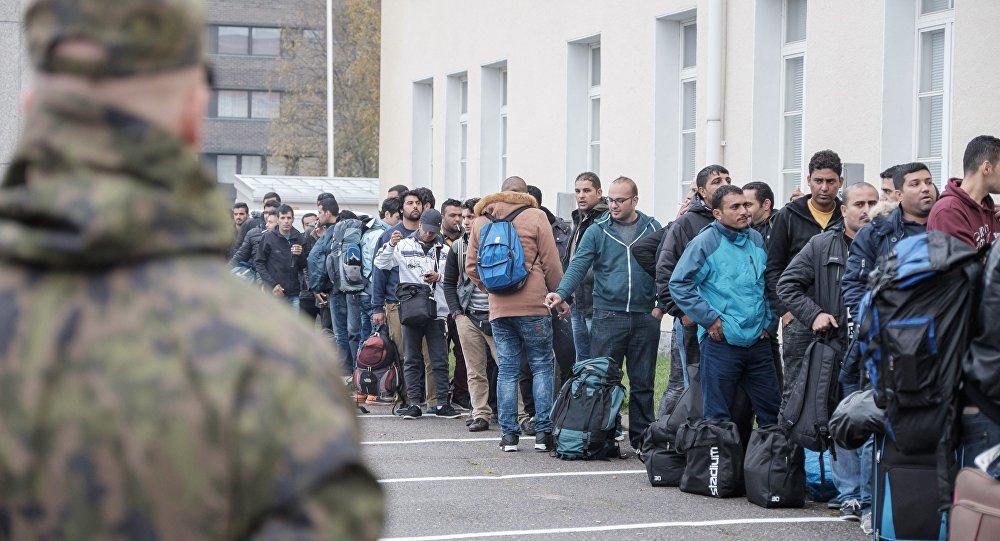 Solicitantes de asilo en un centro de refugiados, Tornio, Finlandia, el 25 de septiembre de 2015