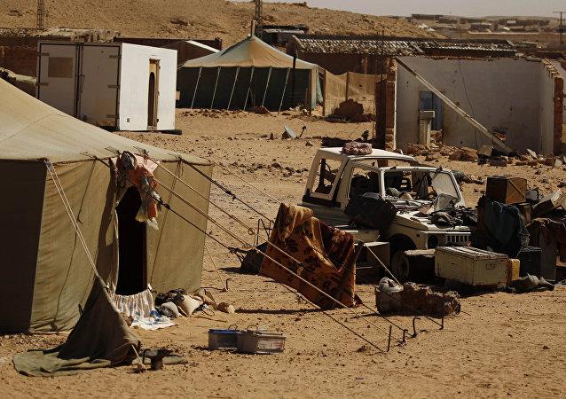Campo de refugiados saharauis en Argelia
