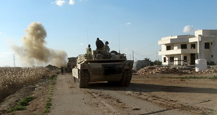 Militares iraquíes en Ramadí