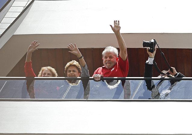 Presidenta de Brasil, Dilma Rousseff y Luiz Inácio Lula da Silva