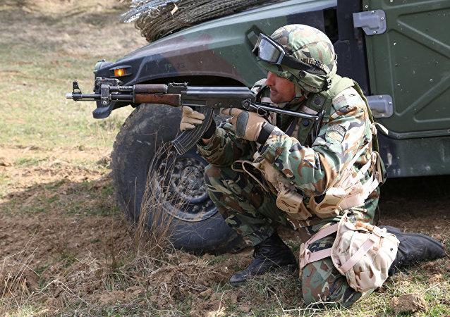 Un soldado búlgaro