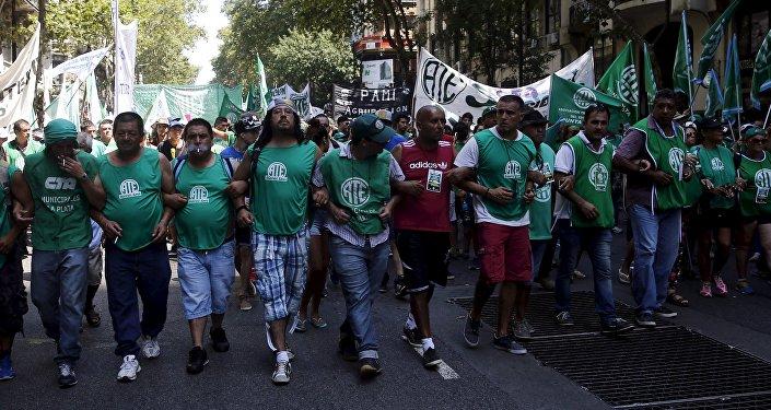 Huelga en Argentina (archivo)