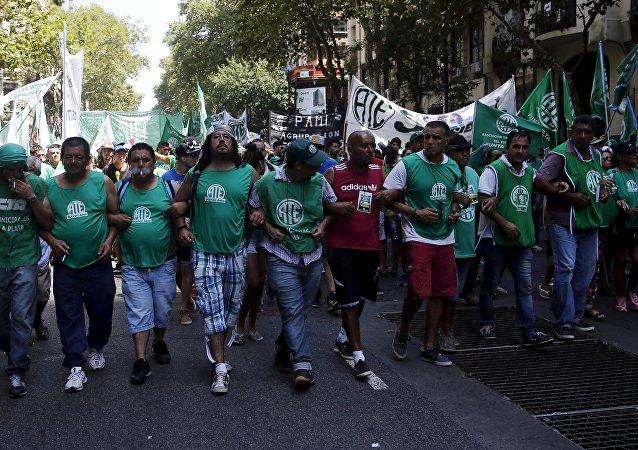 Huelga en Buenos Aires contra los despidos