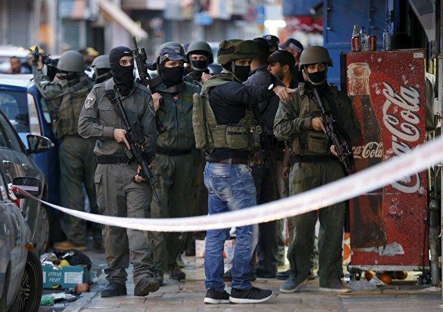 Lugar del tiroteo en Jerusalén