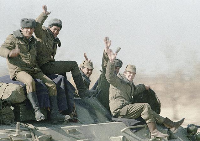 Soldados soviéticos en Afganistán