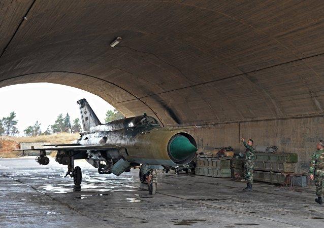 MiG-21 de la Fuerza Aérea siria (archivo)