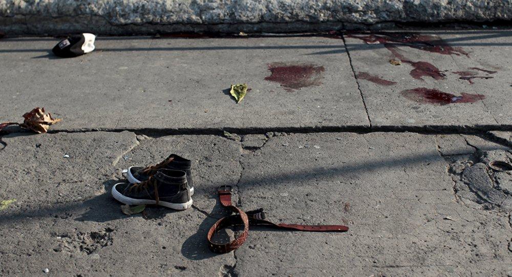 La escena del crimen en El Salvador