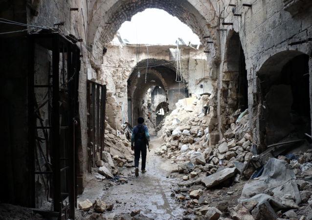 Ruinas en Alepo