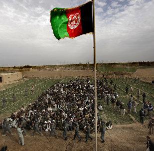 La bandera nacional de Afganistán (archivo)