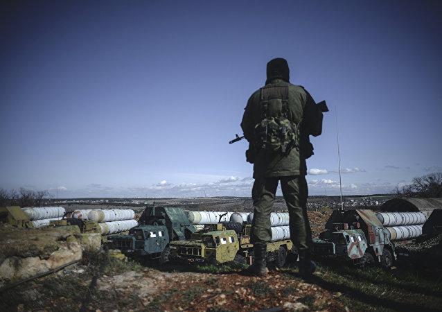 Territorio de la división de defensa aérea en la ciudad de Sebastopol (archivo)
