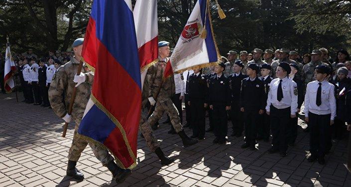 Los cadetes de la Milicia Popular en Crimea