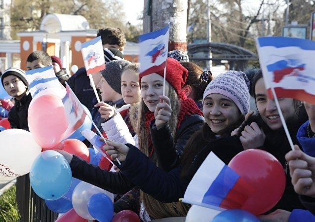 La celebración de la adhesión de Crimea a Rusia (archivo)