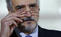 Bashar Jaafari, representante de la delegación gubernamental siria en las negociaciones de Ginebra.