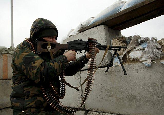 Miliciano en Donbás