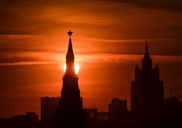 Una de las torres del Krémlin, Moscú