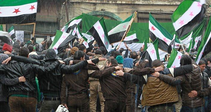 Simpatizantes oposición armada siria (archivo)