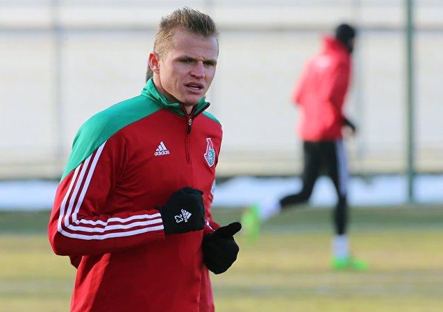 Dimitri Tarasov, mediocampista ruso del Lokomotiv Moscú