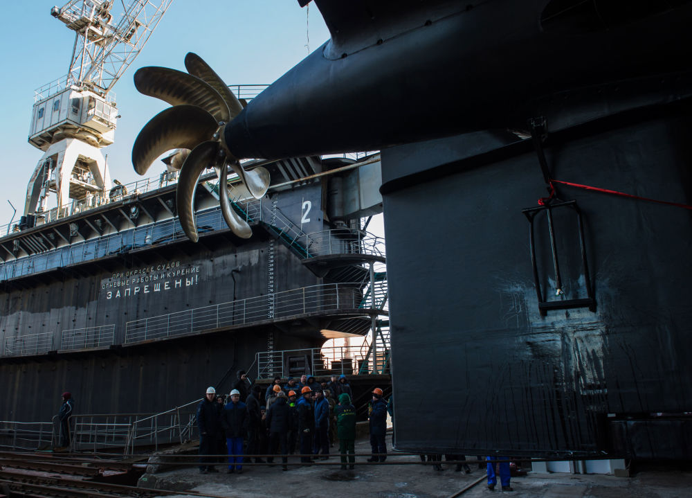 El lanzamiento del submarino Veliki Nóvgorod