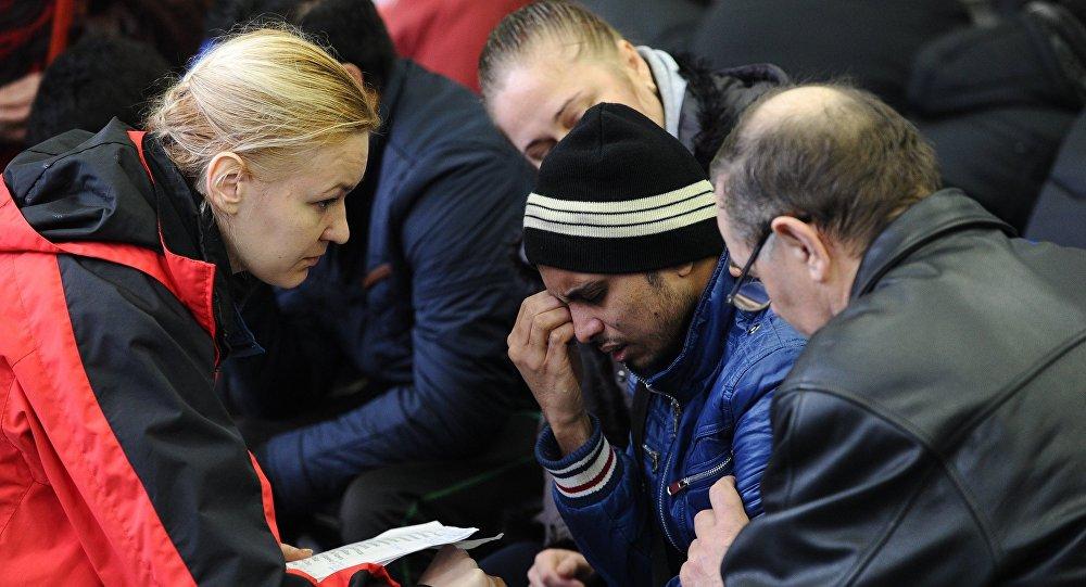 Psicóloga ayuda a los familiares de las víctimas del siniestro del avión en Rostov del Don