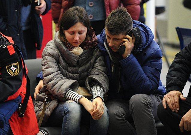 Familiares de las víctimas del siniestro del Boeing-737 en Rostov del Don