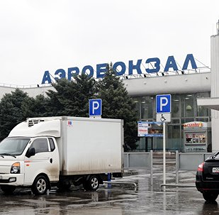 Rostov-on-Don airport, where a Boeing-737-800 passenger jet crashed earlier while landing.