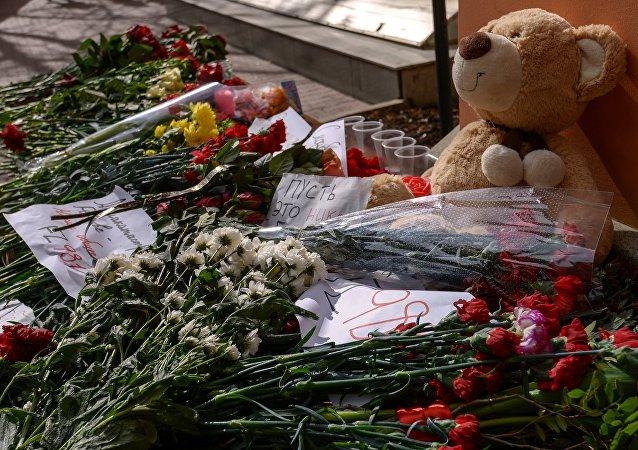 Homenaje a las víctimas del accidente aéreo de FlyDubai en Moscú