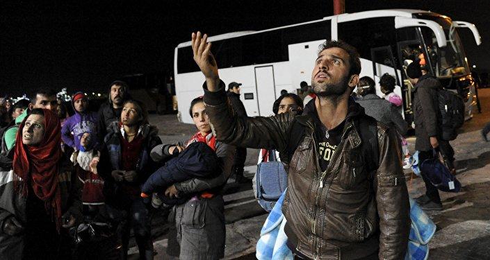 Los migrantes llegan a Grecia
