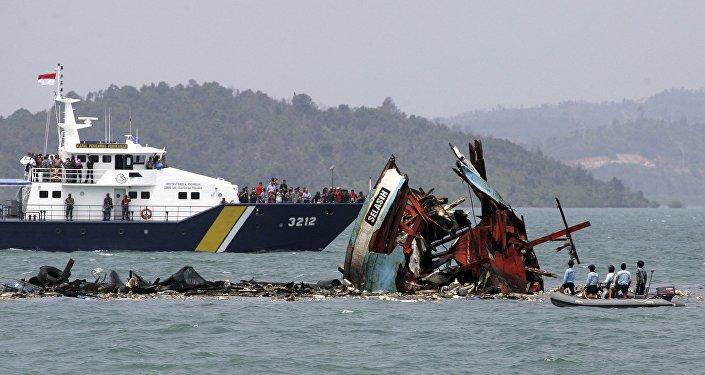 Barcos chinos hundidos (archivo)