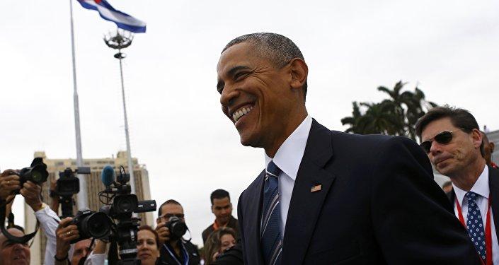 Barack Obama durante su visita a La Habana