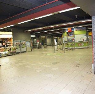 Una estación del metro en Bruselas