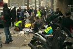 Socorristas cerca de la estación de metro Maelbeek