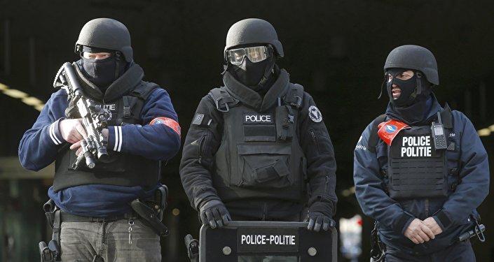 Policías belgas en Bruselas (archivo)