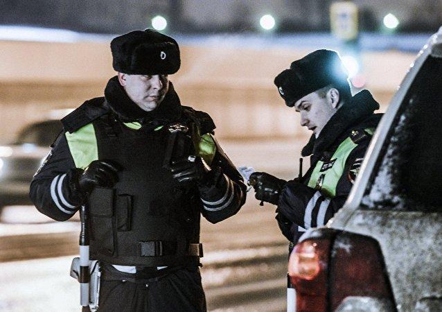 Policía moscovita