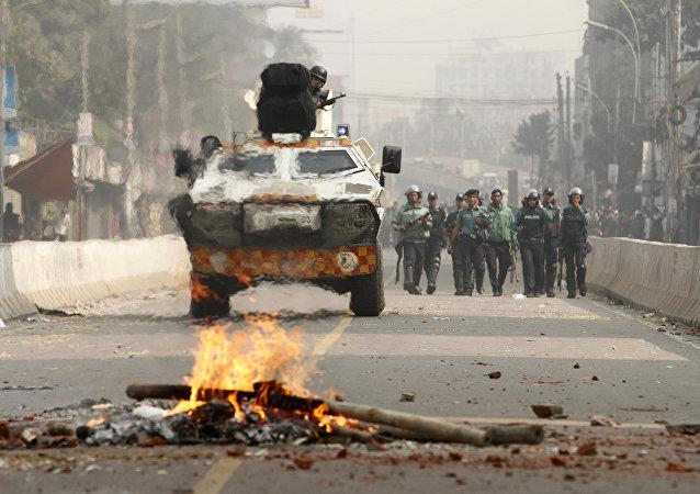 Disturbios sociales en Bangladés (archivo)