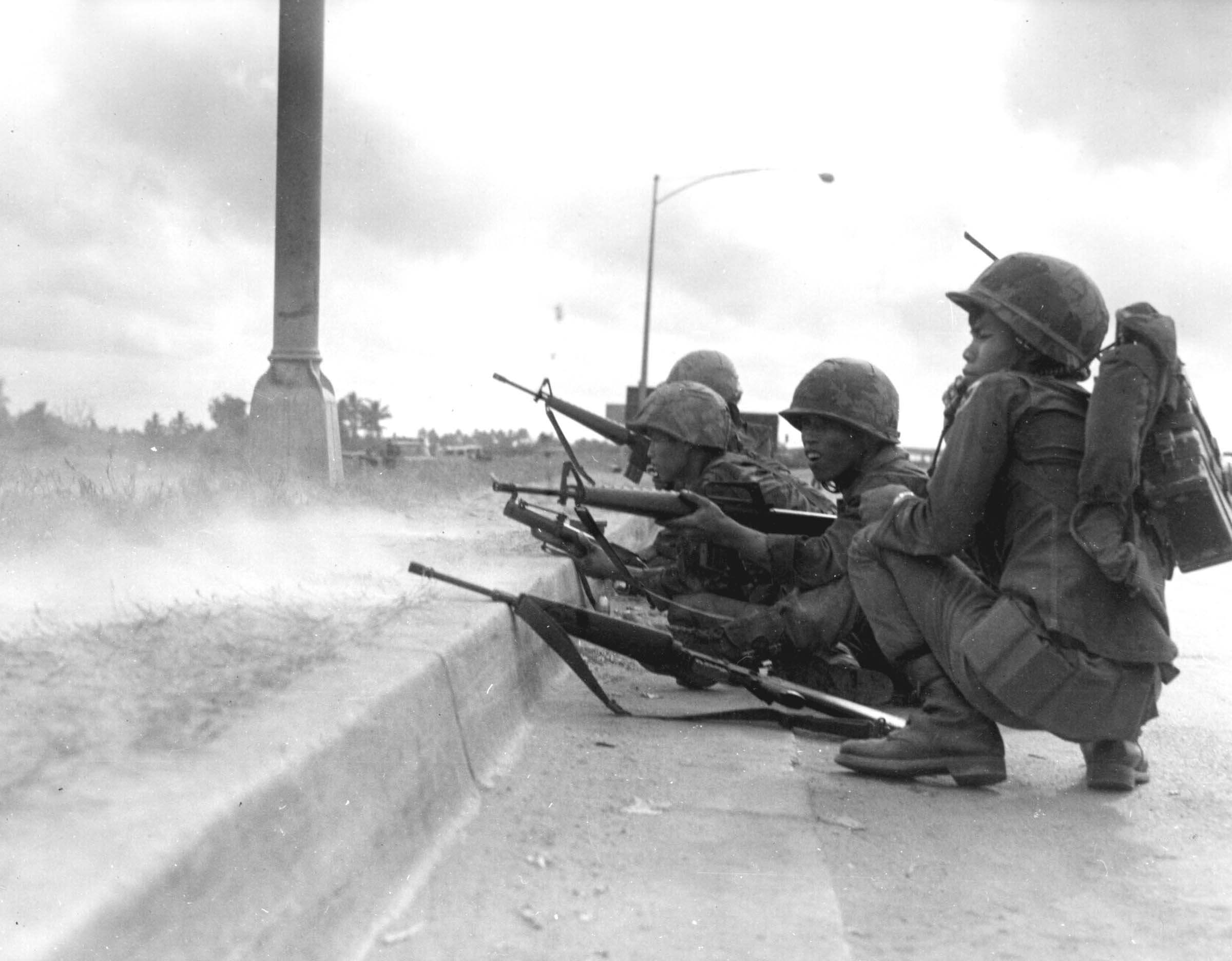 Soldados del ARVN durante la Ofensiva del Tet, 1968.