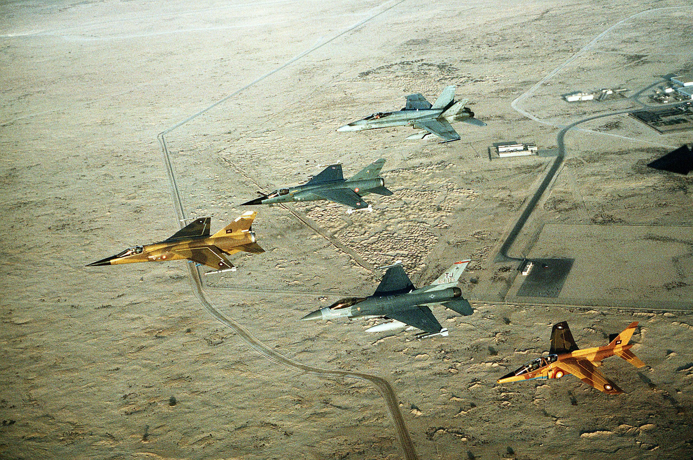 Aviones de combate durante la Guerra del Golfo