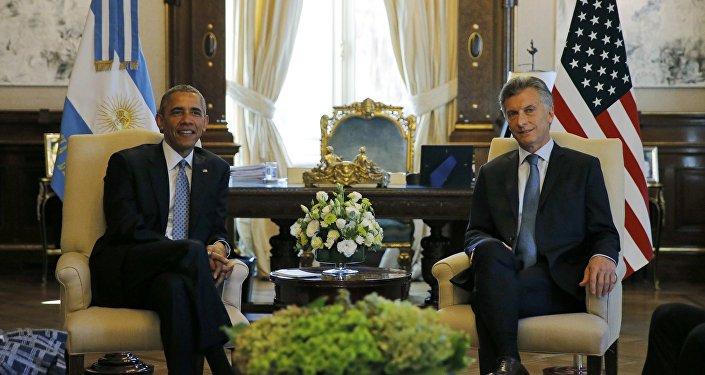Mauricio Macri, presidente de Argentina, y Barack Obama, presidente de EEUU