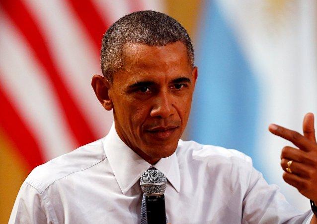 El presidente de EEUU, Barack Obama, habla durante una conferencia en Buenos Aires